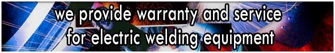 We provide warranty and service for electric equipment
